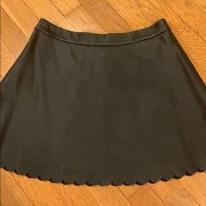 Club Monaco Perforated Faux Leather Skirt